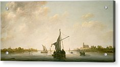 A View Of The Maas At Dordrecht Acrylic Print