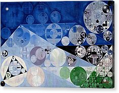 Abstract Painting - Bermuda Grey Acrylic Print by Vitaliy Gladkiy