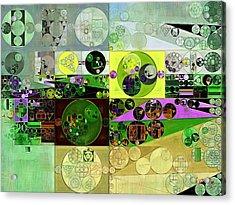 Abstract Painting - Black Bean Acrylic Print by Vitaliy Gladkiy