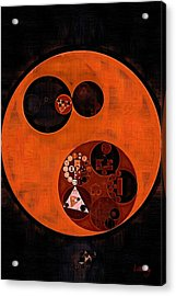 Abstract Painting - Black Acrylic Print by Vitaliy Gladkiy