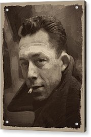 Albert Camus 2 Acrylic Print by Afterdarkness
