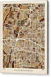 Albuquerque New Mexico City Street Map Acrylic Print