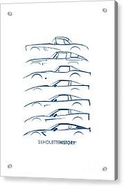 American Sports Car Silhouettehistory Acrylic Print