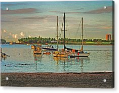 Acrylic Print featuring the digital art 3- Anchored Out by Joseph Keane