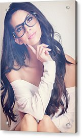 #angela Acrylic Print by ItzKirb Photography