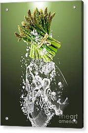 Asparagus Splash Acrylic Print by Marvin Blaine