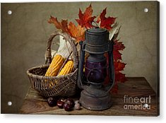 Autumn Acrylic Print by Nailia Schwarz
