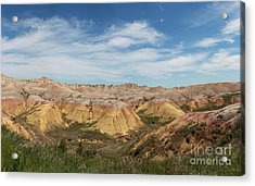 Badlands National Park South Dakota Acrylic Print by Adam Long