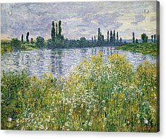 Banks Of The Seine, Vetheuil Acrylic Print