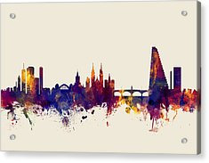 Basel Switzerland Skyline Acrylic Print by Michael Tompsett
