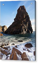 Beach In Sintra Natural Park Acrylic Print by Andre Goncalves