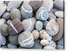 Acrylic Print featuring the photograph Beach Pebbles by Elena Elisseeva