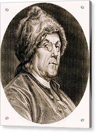 Benjamin Franklin, American Polymath Acrylic Print by Science Source