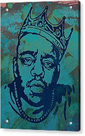 Biggie Smalls Modern Etching Art  Poster Acrylic Print by Kim Wang