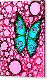 Blue Butterfly Acrylic Print by Brenda Higginson