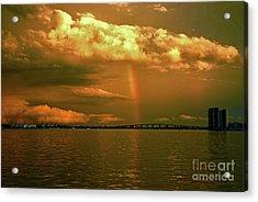 Acrylic Print featuring the photograph 3- Blue Heron Bridge by Rainbows