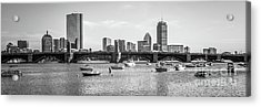 Boston Skyline Black And White Photo Acrylic Print by Paul Velgos