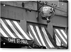 Cafe St. Paul - Montreal Acrylic Print by Frank Romeo
