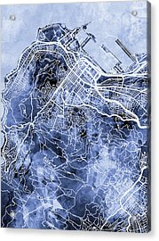 Cape Town South Africa City Street Map Acrylic Print