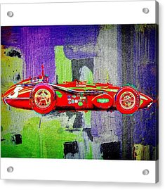 #car #sportscar #racecar #nascar Acrylic Print by David Haskett