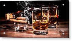 Cigar And Alcohol Collection Acrylic Print