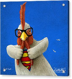 Cluck Kent... Acrylic Print by Will Bullas