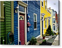 Colorful Houses In St. John's Acrylic Print by Elena Elisseeva