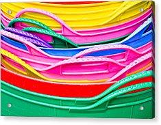 Colorful Plastic Acrylic Print by Tom Gowanlock