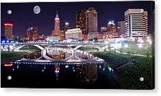 Columbus Ohio Full Moon Pano Acrylic Print