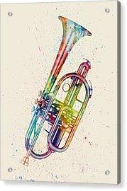 Cornet Abstract Watercolor Acrylic Print