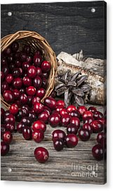 Cranberries In Basket Acrylic Print