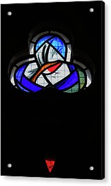 Acrylic Print featuring the photograph Culross Abbey - Stained Glass by Jeremy Lavender Photography