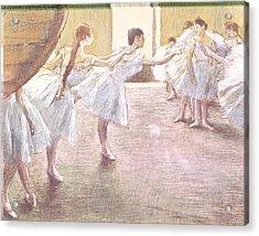 Dancers At Rehearsal Acrylic Print
