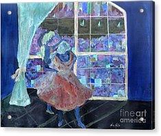 Acrylic Print featuring the painting Dansarinas by Reina Resto