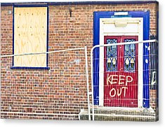 Demolition Site Acrylic Print by Tom Gowanlock