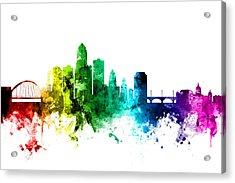 Des Moines Iowa Skyline Acrylic Print
