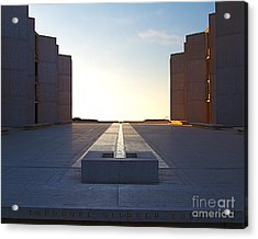 Design And Architecture Of The Salk Institute In La Jolla Califo Acrylic Print by ELITE IMAGE photography By Chad McDermott
