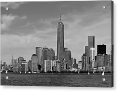 Downtown Manhattn - Freedom Tower Acrylic Print