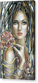 Acrylic Print featuring the painting Drama Queen 301109 by Selena Boron