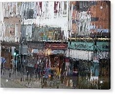 Dublin In The Rain. Acrylic Print