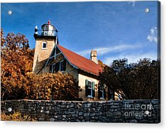 Eagle Bluff Lighthouse Acrylic Print by Joel Witmeyer