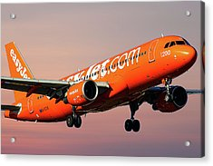 Easyjet 200th Airbus Livery Airbus A320-214 Acrylic Print