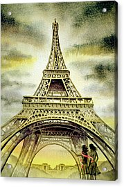 Eiffel Tower Paris Acrylic Print by Irina Sztukowski