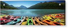 Eklutna Lake Alaska Acrylic Print by Jon Manjeot