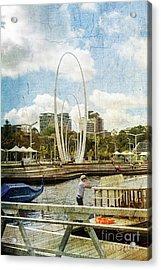 Elizabeth Quay, Perth, Western Australia Acrylic Print by Elaine Teague