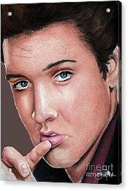 Elvis Acrylic Print by Bill Richards