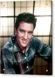 Elvis Presley Acrylic Print by Everett