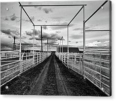 Empty Corrals Acrylic Print by L O C