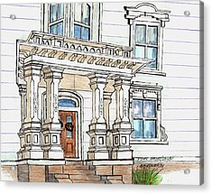 Essex Street Front Door Acrylic Print by Paul Meinerth
