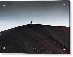 Acrylic Print featuring the photograph Etna, The Volcano by Bruno Spagnolo